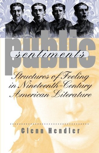 Public Sentiments: Structures of Feeling in Nineteenth-Century American Literature by Hendler, Glenn (2001) Paperback