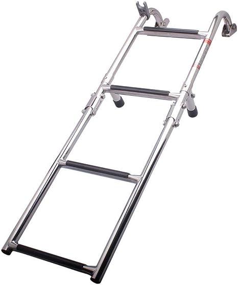 Hoffen - Escalera Plegable de Acero Inoxidable para Barcos Marinos de 4 peldaños, Escalera Pulida de 2 + 2 escalones, almacén Kentucky: Amazon.es: Deportes y aire libre