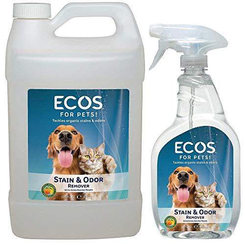 (ECOS Earth Friendly Pet Stain & Odor Remover 128oz (Gallon) + 22 oz Combo)