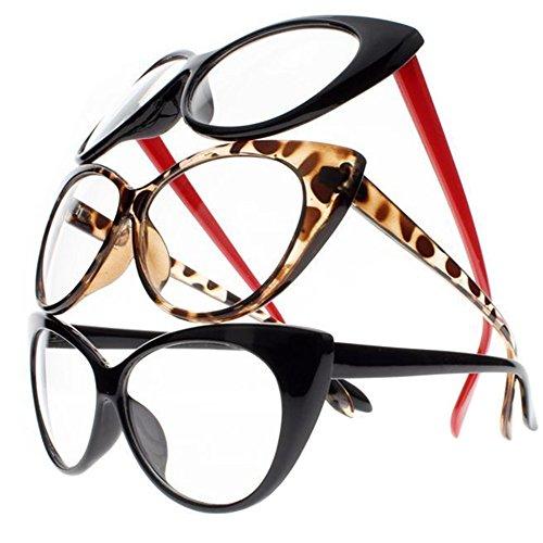 Women Magnification Stylish Vintage Cat Eye Tortoise Reading Glasses Readers