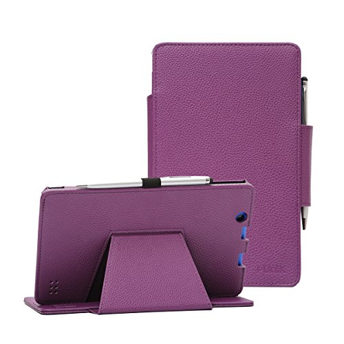 Nextbook Ares 8A case, i-UniK Nextbook Ares 8A Model #NX16A8116 K/R/B/S Android 6.0 Tablet Cover CASE [Bonus Stylus] (Purple)