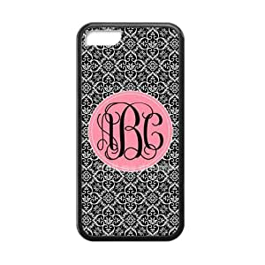 meilz aiaiWhite Infinity Pattern in The Black Background Palace Style Pink Monogram Design Custom Luxury Cover Case with Best Plastic For iphone 6 4.7 inchmeilz aiai