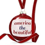 Christmas Decoration America the Beautiful Fourth of July Modern Rustic Ornament