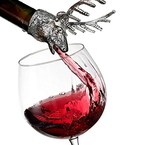 - Euone  Wine Pourer, Elk Stainless Steel Liquor Wine Bottle Pour Flow Pourer Spout Stopper