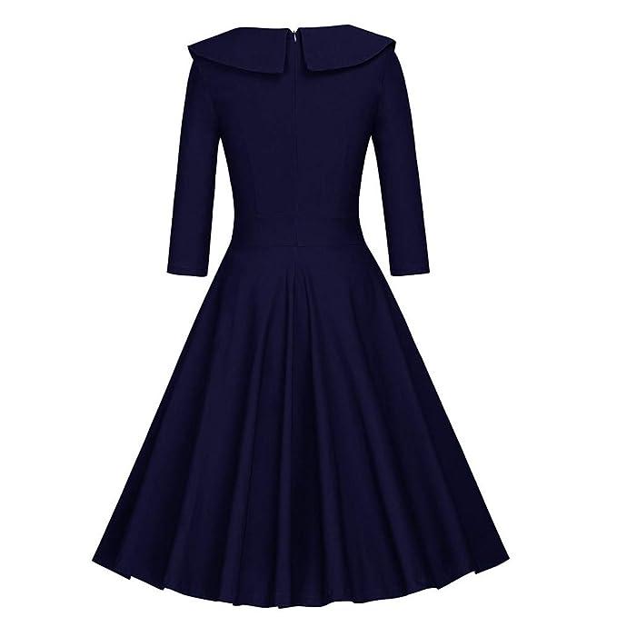 TOPGIFTS - Vestido Vintage para Mujer de los años 50, Estilo ...