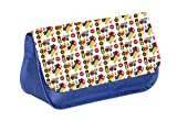 Transportation Pattern - Boys Blue Pencil Case - Pencil Bag - with 2 Zippered Pockets and Nylon Lining