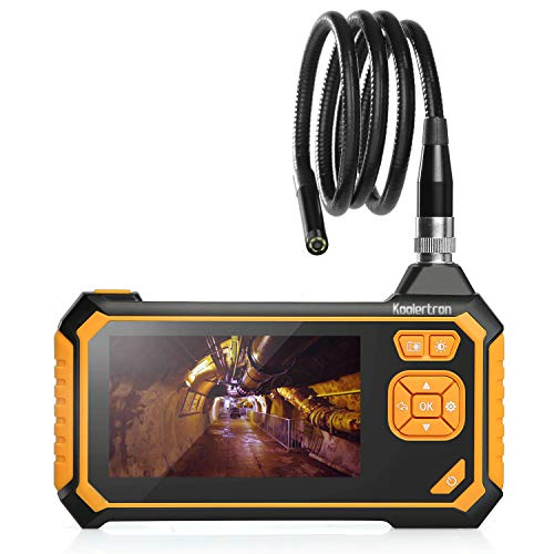 Koolertron 4.3inch LCD Industrial Endoscope,1080P HD Professional Micro Video Inspection Camera,8mm Waterproof Snake Tube Camera Handheld Digital Video Recorder with 6 LED Lights,Lithium-Ion Battery