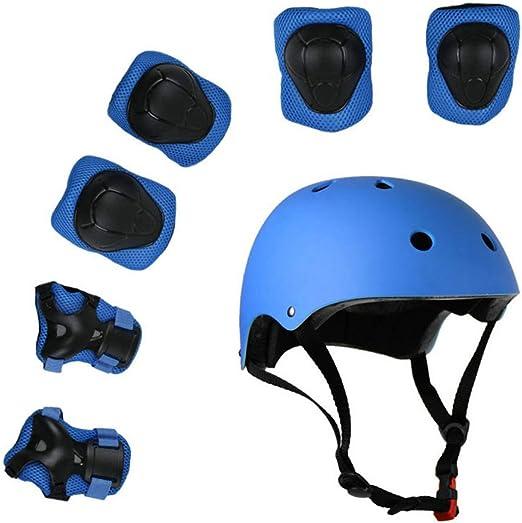 Juego de cascos y almohadillas para niños en bicicleta Casco de ...