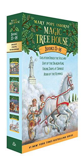Magic Tree House Boxed Set, Books 13-16: Vacation Under the Volcano, Day of the Dragon King, Viking Ships at Sunrise, and Hour of the Olympics (History Of The Christmas Tree For Kids)