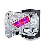 TopoGrow 600W LED Grow Light Kit+24″x24″x48″ Grow Tent Kit for Hydroponic Plant Grow System (LED600W+24″x24″x48″) Review