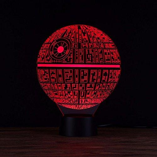 Lámpara de mesa LED, ilusión óptica 3D, diseño de la ...
