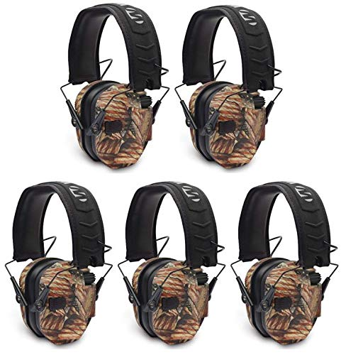 Walkers Razor Slim Electronic Shooting Muffs 5-Pack, USA 2nd Amendment (5 Items) by Walker's Game Ear