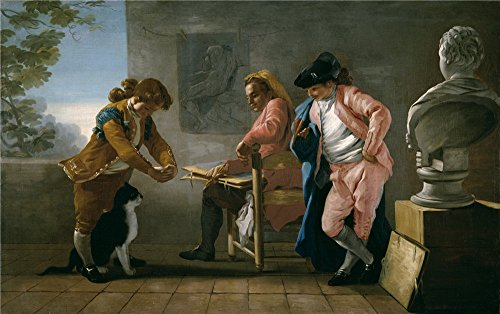 Trio Group Halloween Costumes (Perfect Effect Canvas ,the Vivid Art Decorative Canvas Prints Of Oil Painting 'Castillo Jose Del Drawing Study. Boys Playing With A Cat Or The Painter's Studio 1780 ', 16 X 26 Inch / 41 X 65 Cm Is Best For Basement Artwork And Home Gallery Art And Gifts)