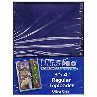 Ultra Pro 2 Regular Top Loader Packs - 25 Toploaders Per Pack (50 Total) - for Standard Size Baseball, Football, Basketball, Gaming: Sports & Outdoors