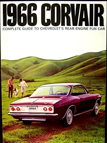 HISTORIC 1966 CHEVY CORVAIR DEALERSHIP FULL-COLOR SALES BROCHURE - ADVERTISMENT FOR Monza Sport Coupe, 500 Sport Coupe & Convertible - CHEVEROLET 66