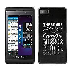 Caucho caso de Shell duro de la cubierta de accesorios de protección BY RAYDREAMMM - Blackberry Z10 - Spreading The Light