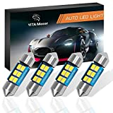 #5: DE3175 LED Bulbs, YITAMOTOR 31mm Festoon LED Bulb 6 SMD 3528 Chipset Canbus Error Free LED Bulbs for Interior Car Lights Dome Map License Plate Trunk Light DE3022 3175 3021 3022, Color White