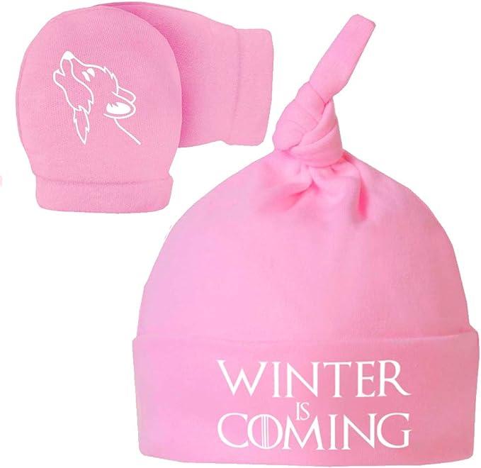 Pack Gorro y Manoplas recién Nacido. Winter is Coming. Parodia ...