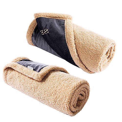 SEPETTY dog blankets, waterproof pet blankets for multi-purpose use. 100% polyester, no fading, warm, soft, durable. High-grade double-layer dog mat with No Adsorption hair and Warm dog bed.