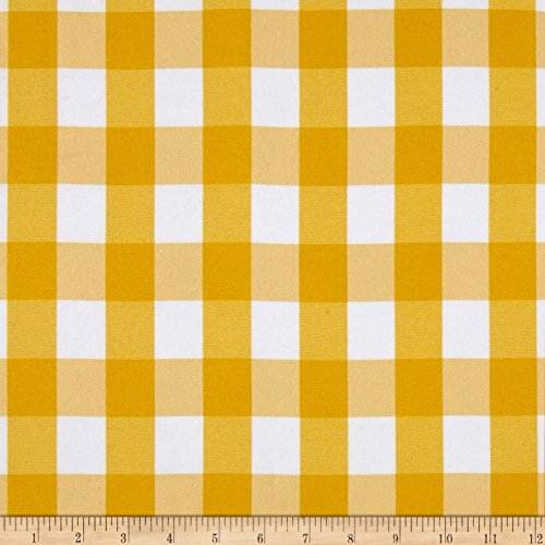 Ben Textiles Picnic Gingham Yarn-Dyed Yellow/White Fabric by The ()