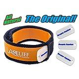 Mosquitoff Mosquito Repellent Bracelet with 4 Essential Oil Diffuser Refill Set, Orange
