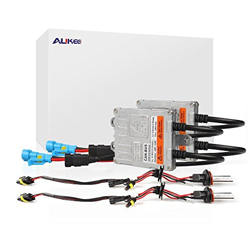 Aukee 55W H11 H8 H9 HID Xenon Headlight Conversion Kit with Canbus Error Free Ballast-6000K