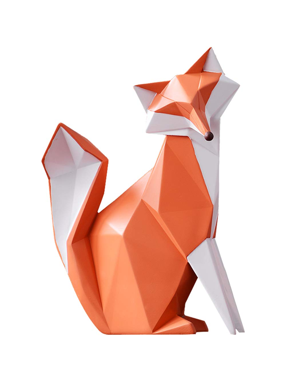 HomeBerry Fox Figurine Statue Sculpture Animal Home Decor Decoration Gift Arts Crafts Hand Painted Polyreisn 21cmH