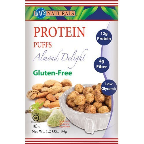 Kay's Naturals Protein Puffs, Almond Delight, Gluten Free, 1.2 Ounce , Pack of 12