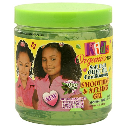 Africa's Best Kids Organics Smooth and Style Gel, 15 Ounce (Baby Soft Oil Gel)