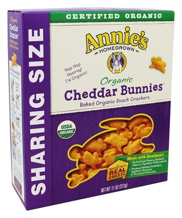 Annie's - Organic Cheddar Bunnies Baked Snack Crackers - 11 oz.Pack of 2