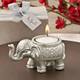 30 Good Luck Silver Indian Elephant Candle Holder by Fashioncraft