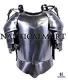 NAUTICALMART Medieval Times Shoulder Guard Steel Breastplate Warrior Knight Armor