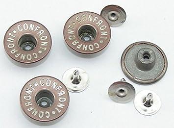 8 Jeansknöpfe Hosenknopf Jeans Knopf Nietenknopf silber 17 mm