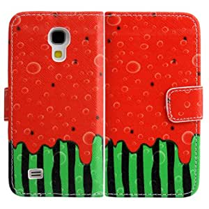 Samsung Galaxy S4 mini i9190 i9195 PU-LEATHER FRUIT NINJA Design FLIP stand cover protección-móvil casos Flip bag Cover thematys®