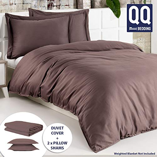 Cheap QQ Bedding 100% Cotton Weighted Blanket Cover & Two Pillow Shams | Premium and Soft Turkish Cotton Duvet Cover | Washable/Removable with Zipper & Secure Ties | Fits to All Brands Black Friday & Cyber Monday 2019