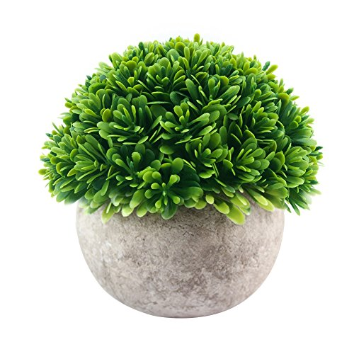 - Telisii Simulation Flower Ball Vintage Bonsai Plastic-Green-Grass-Plant Artificial Silk Flowers Fashionable Home Decor Ornaments Simulated Potted Plants for Wedding Home Garden