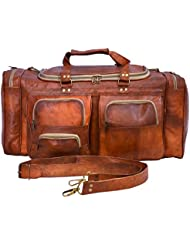 Messenger of Leather 24 TRAVEL Bag DUFFEL LUGGAGE SPORTS GYM BAG