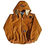 Rasco FR Brown Duck Quilted Hooded Jacket BJFQ2206 , X-Large Tall