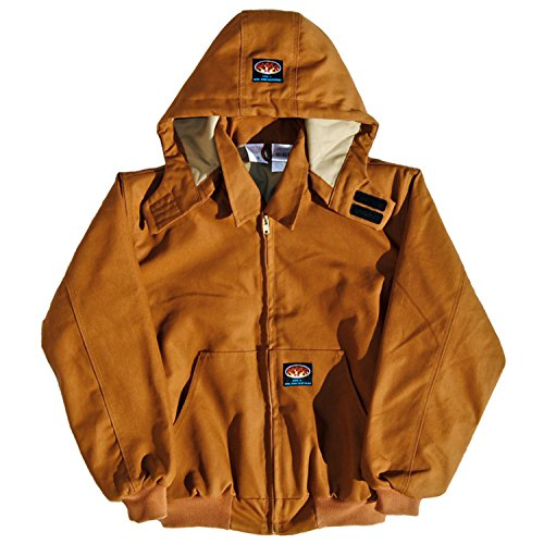 Rasco FR Brown Duck Quilted Hooded Jacket BJFQ2206 , X-Large Tall by Rasco FR Clothing