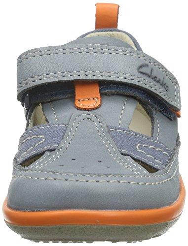 Clarks Kids Softlyluke Fst - Zapatillas Niños Azul (Denim Blue Lea)