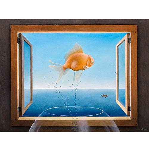 Miller Fine Art Print - Matted Fine Art Print 11x14, Goldfish Dreams, Justin D Miller