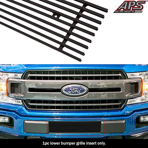 APS Compatible with 2018-2020 Ford F-150 Lower Bumper Billet Grille Insert N19-H10466F (2018 Ford F150 Grill Emblem)