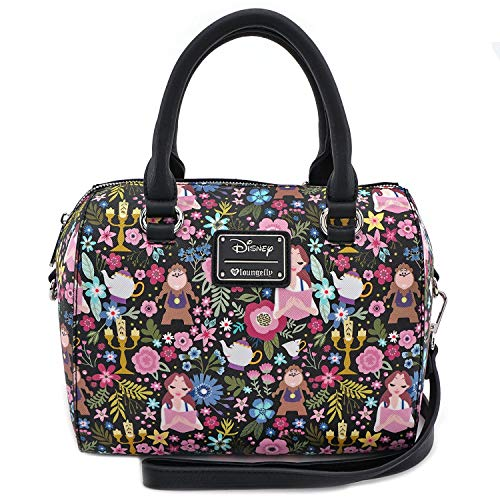 0f6e2c2bd2c Loungefly x Beauty and the Beast Belle Floral Print Duffel Purse (One Size