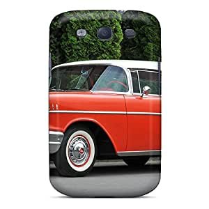 New SLxIc5991CurUa Chevrolet Bel Air Nomad 1957 Skin Case Cover Shatterproof Case For Galaxy S3