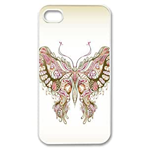 C-Y-F-CASE DIY Design Colorful Flower Butterfly Pattern Phone Case For Iphone 4/4s