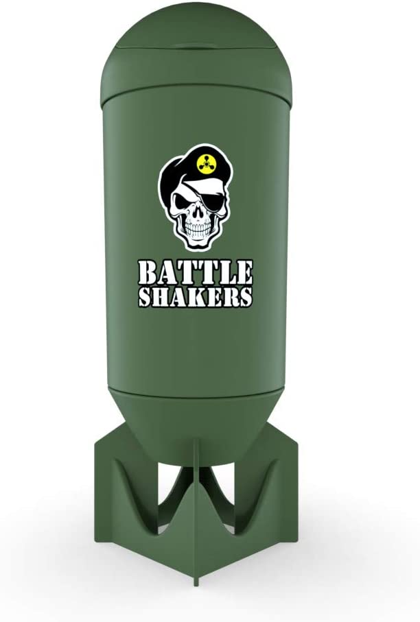Battle Shakers Bomb Shaker Cup | 20 Oz Leak-Proof Shaker Bottle | Protein Cup with Storage Compartment | Dishwasher Safe & BPA Free Sports Bottle