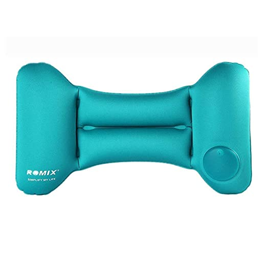 Automático Push-Type viaje almohada, almohada hinchable de cintura ...