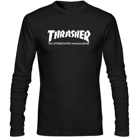 412fcf59ab2e Thrasher Logo Men Long Sleeve Shirts XL Black. Roll over image to ...