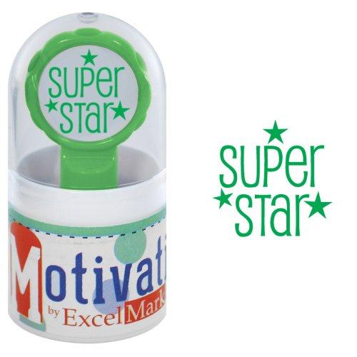 Inked Star Pre (Motivations Pre-inked Teacher Stamp - Super Star (Stars) - Green)