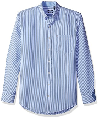 IZOD Men's Big and Tall Advantage Performance Stretch Long Sleeve Shirt, Vivid Mazarine Blue, 2X-Large Big by IZOD